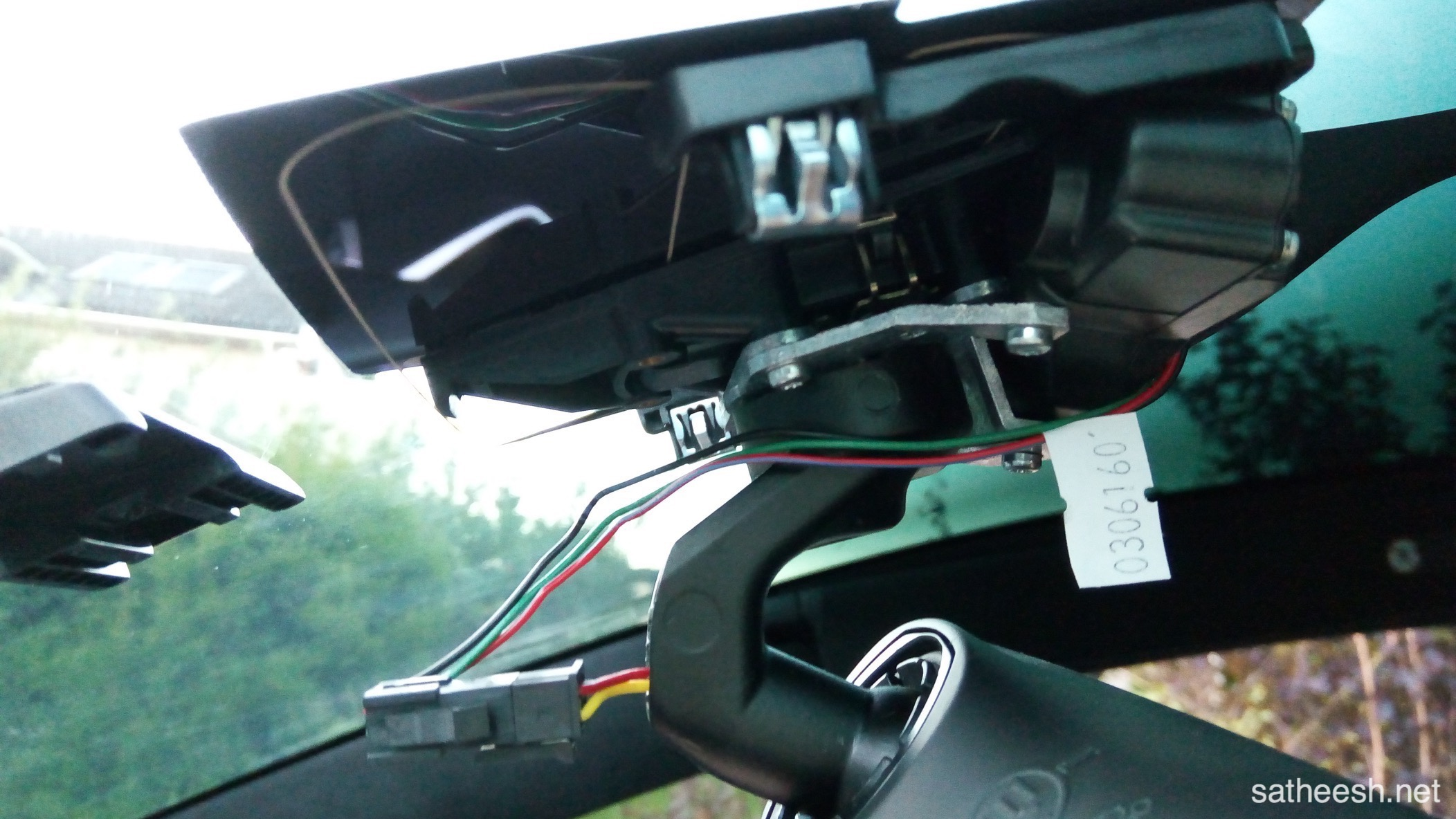 Dashcam Installation Tesla Model X Wire Harness Some Close Ups From The Housing