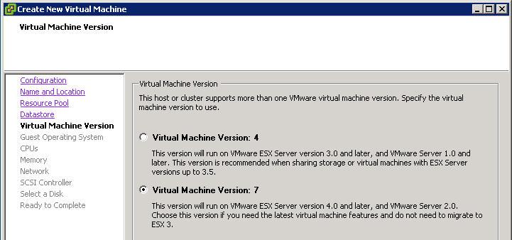 upgrade machine version